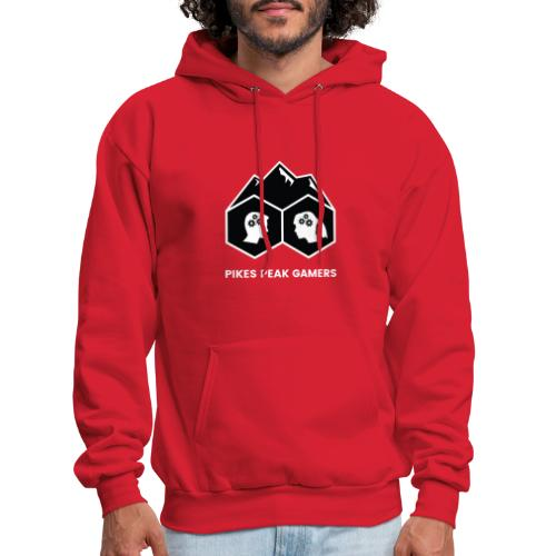 Pikes Peak Gamers Logo (Solid Black) - Men's Hoodie