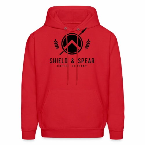 Shield and Spear Black Logo - Men's Hoodie