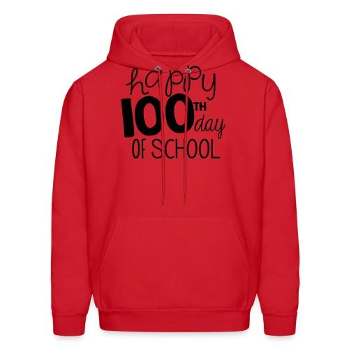Happy 100th Day of School Chalk Teacher T-Shirt - Men's Hoodie