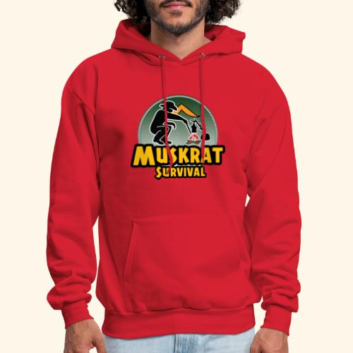 Muskrat round logo - Men's Hoodie