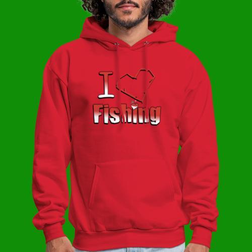 I heart fishing - Men's Hoodie