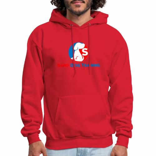 saro dog training logo - Men's Hoodie