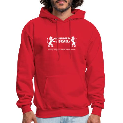 Defenders Of Israel White - Men's Hoodie
