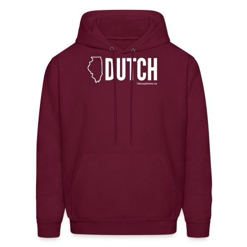 Illinois Dutch (White Text) - Men's Hoodie
