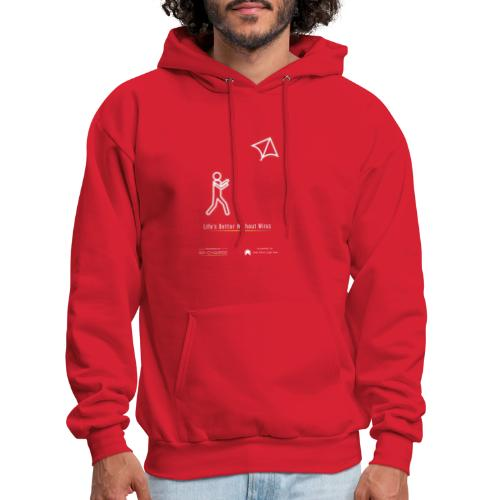 Life's better without wires: Kite - SELF - Men's Hoodie