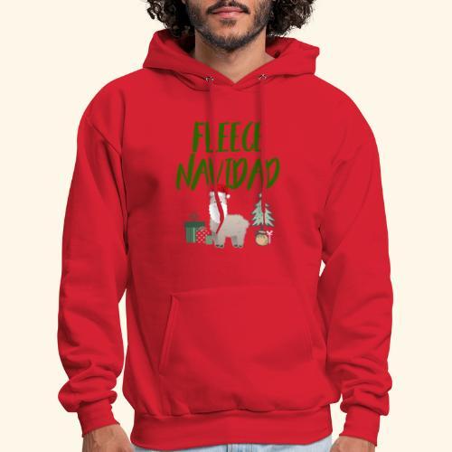 FLEECE Navidad Christmas lama Tee - Men's Hoodie