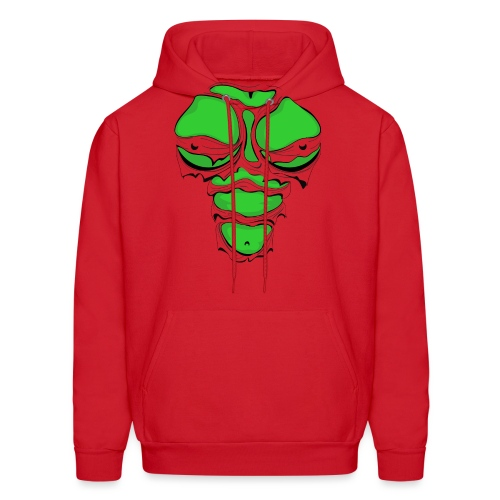 Ripped Muscles Female Green, chest T-shirt, - Men's Hoodie