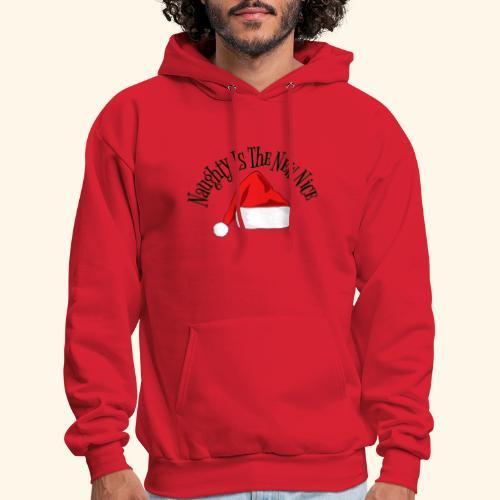 Naughty Is The New Nice Santa Hat Design - Men's Hoodie