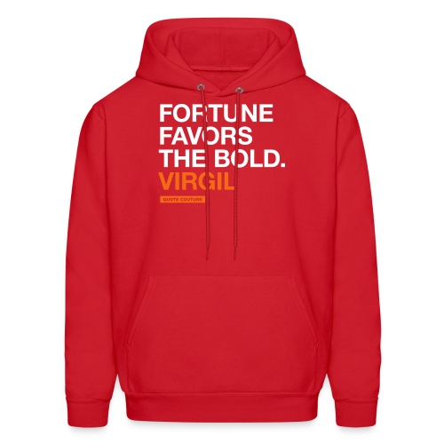Fortune favors the bold (men -- bags -- big) - Men's Hoodie