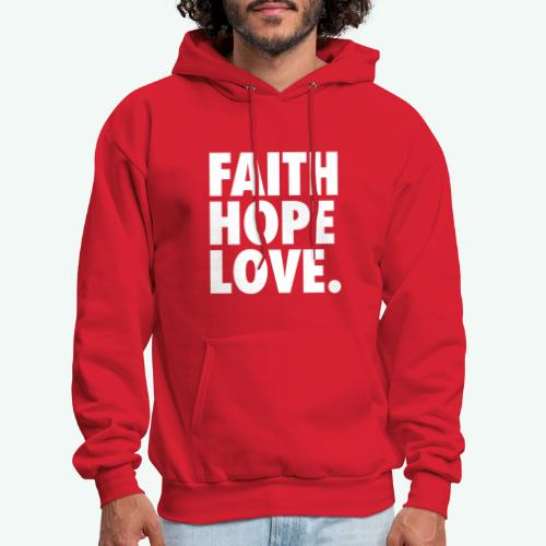 FAITH HOPE LOVE - Men's Hoodie