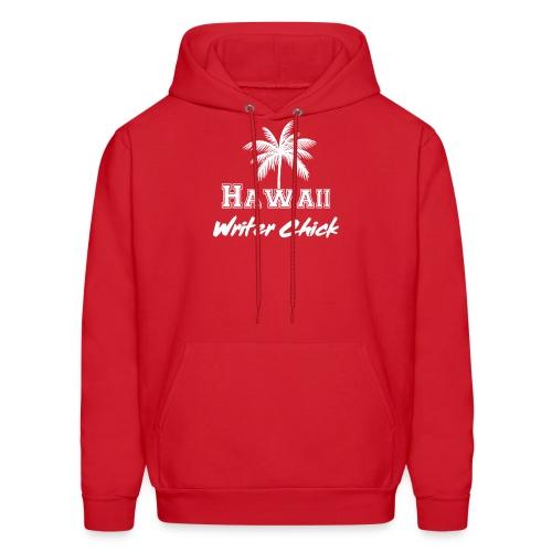 Hawaii Writer Chick - White - Men's Hoodie