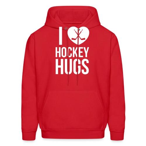 I [Heart] Hockey Hugs - Men's Hoodie