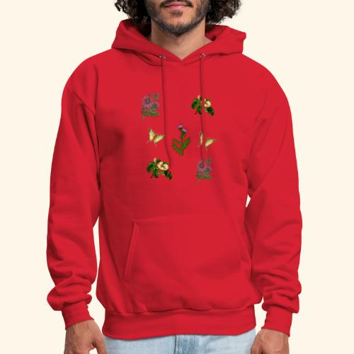 vintage bloom Botanical Design - Men's Hoodie