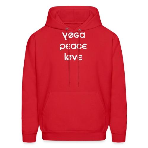 Yoga Peace Love - Men's Hoodie