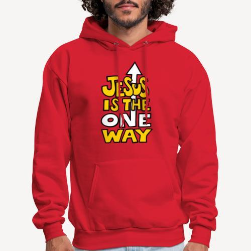 JESUS IS THE ONE WAY - Men's Hoodie