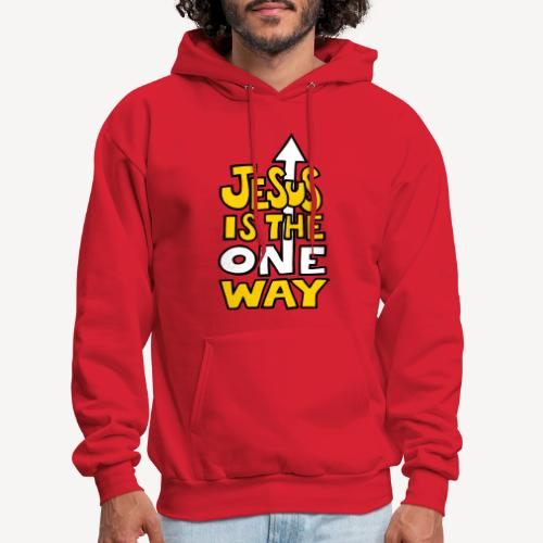 JESUS IS THE ONE WAY - Men's Hoodie