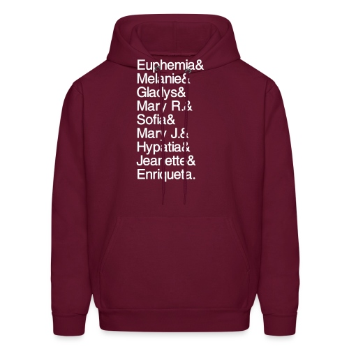 Math Gals 1sts with #MathGals hashtag - Men's Hoodie
