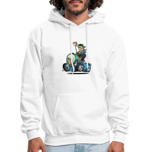 Hot Rod Electric Car Cartoon - Men's Hoodie