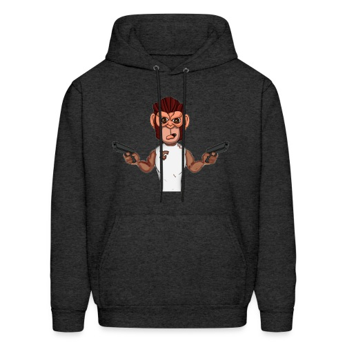 Crazy Monkey Armed - Men's Hoodie