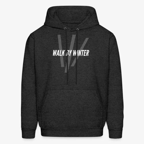 Walk by Winter W Logo (Background) - Men's Hoodie