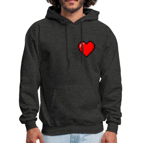 Pixelated Heart - Men's Hoodie