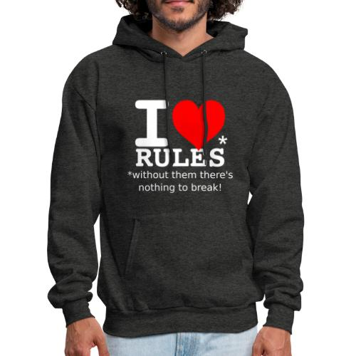 i love rules white - Men's Hoodie