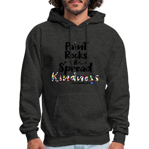 Paint Rocks, Spread Kindness_LawtonRocks - Men's Hoodie