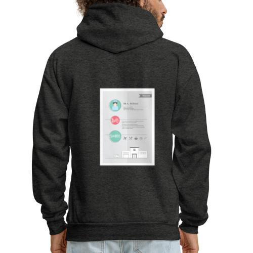 Nurse Resume Male - Men's Hoodie
