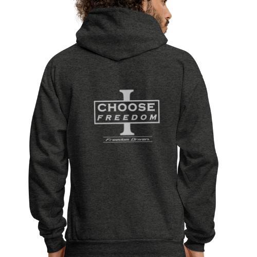 I CHOOSE FREEDOM - Bruland Grey Lettering - Men's Hoodie