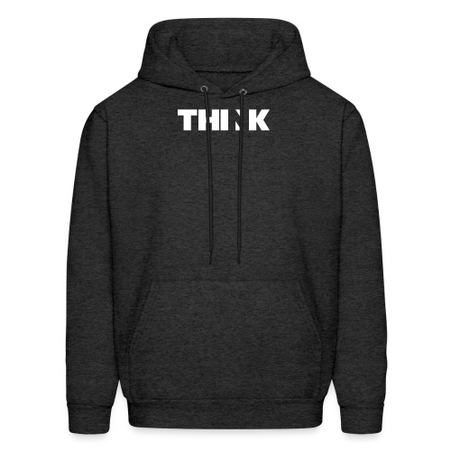 THINK (In White) - Men's Hoodie