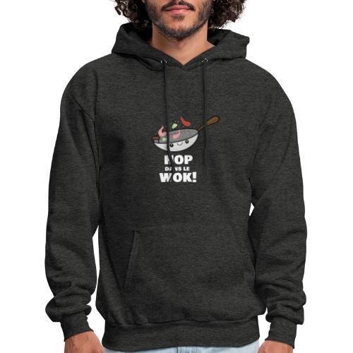 Logo Hop dans le Wok - Molleton à capuche pour hommes
