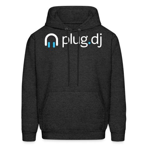 plugdj logo white png - Men's Hoodie