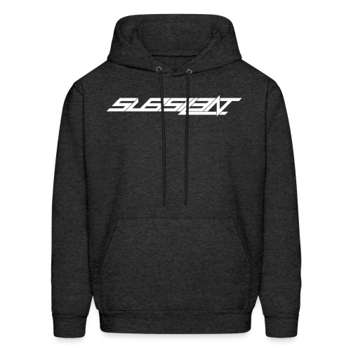 SubSIL3NT Logo White & Black - Men's Hoodie