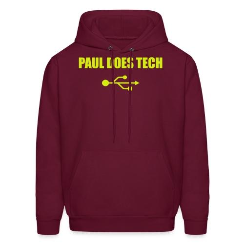 Paul Does Tech Yellow Logo With USB (MERCH) - Men's Hoodie