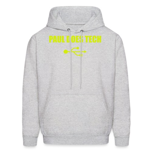 Paul Does Tech Yellow Logo With USB (MERCH) - Men's Hoodie