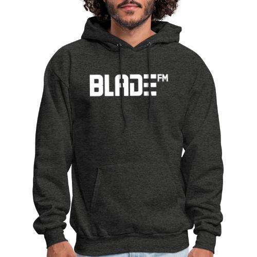 White BladeFM Logo - Men's Hoodie