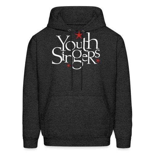 ysc logo words vertical white - Men's Hoodie