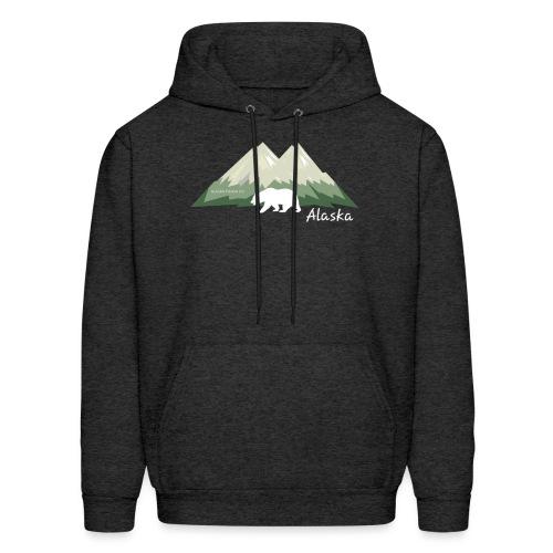 Alaskan Mountain and Bear - Men's Hoodie