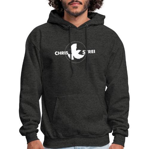 Chris Strei BlackBird Logo (white) - Men's Hoodie