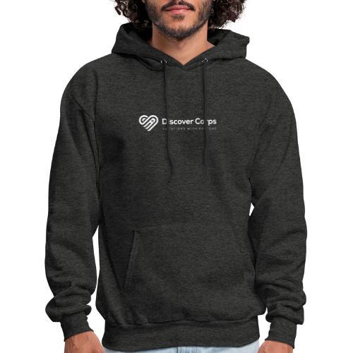 DiscoverCorp Logo Horizontal Rev High white - Men's Hoodie