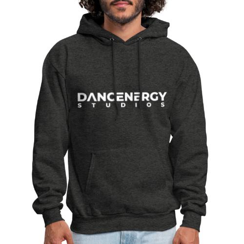 logo dancenergy 2019 white just text - Men's Hoodie