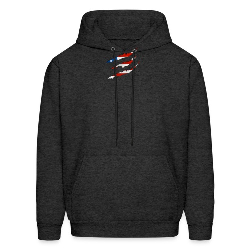 3D American Flag Claw Marks T-shirt for Men - Men's Hoodie