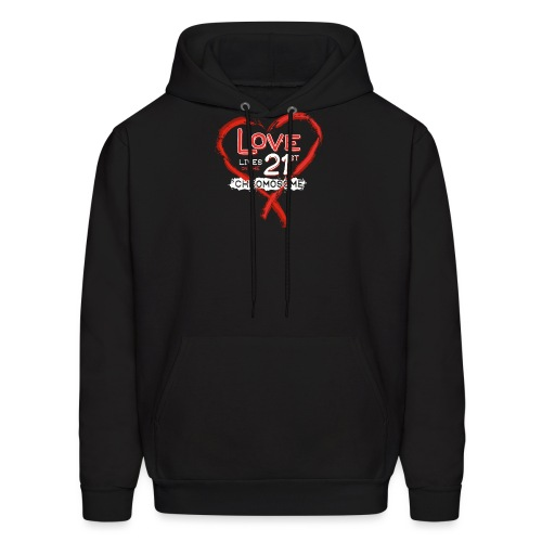 Down Syndrome Love (Red/White) - Men's Hoodie