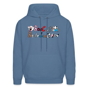 Boo Cat And Bedroom Cow - Men's Hoodie