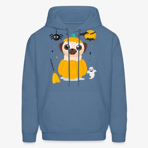 I love Halloween Pug Dog T-Shirt - Men's Hoodie