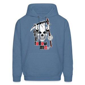 Follow me - Funny Skull with Scythe and Chain - Men's Hoodie