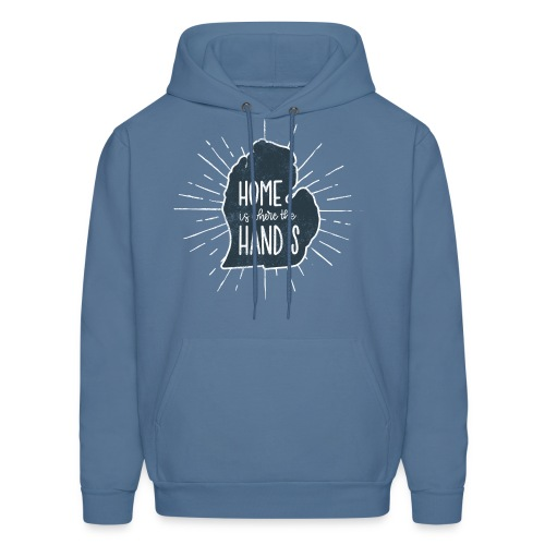 Michigan - Home Is Where the Hand Is - Men's Hoodie