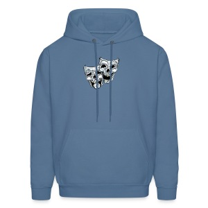 COMEDY TRAGEDY SKULLS - Men's Hoodie