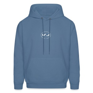 Vloggerjoe White circle lgo - Men's Hoodie