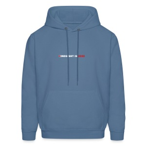 Hindsight Is 2020 - white/red type - Men's Hoodie